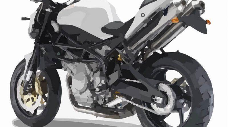黒いバイクのイラスト